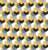 Nahtlose Tarnung im einfachen gelben wiederholenden Muster Polygonale Mosaik-Reihe für Ihr Design Vektor Lizenzfreie Stockfotografie