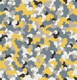 Nahtlose Tarnung im gelben Muster mit Gitter Polygonale Mosaik-Reihe für Ihr Design Vektor Stockbilder