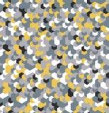 Nahtlose Tarnung im gelben Muster Polygonale Mosaik-Reihe für Ihr Design Vektor Stockbilder