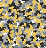 Nahtlose Tarnung im gelben Muster Polygonale Mosaik-Reihe für Ihr Design Vektor Stockbild