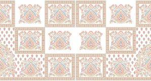 Nahtlose traditionelle indische Textilentwurfsgrenze lizenzfreies stockbild