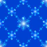 Nahtlose transparente Kristallschneeflocken Stockfotografie