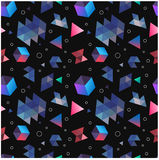 Nahtlose ursprüngliche geometrische Muster des Minimalismus lizenzfreie stockfotos