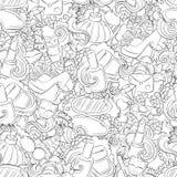 Nahtlose Vektor-Zusammenfassungshintergrund des Gekritzels Hand gezeichneter, Beschaffenheit, Muster, Tapete, Hintergrund Sammlun Stockfoto