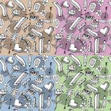 Nahtlose vektorbeschaffenheit mit von Hand gezeichneten Gekritzeln Stockbilder