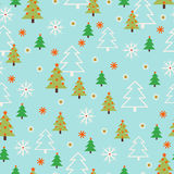 Nahtlose Vektorgruß Weihnachtskarte stock abbildung