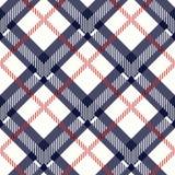 Nahtlose Vektorillustration des blauen und beige Musters der Gewebebeschaffenheit diagonalen stock abbildung