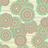 Nahtlose Vektormuster der Mandala Stockfotos