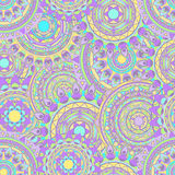 Nahtlose Vektormuster der Mandala Stockfotografie