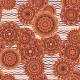 Nahtlose Vektormuster der Mandala Stockbild