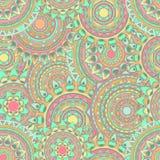 Nahtlose Vektormuster der Mandala Stockfoto