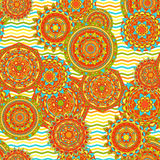 Nahtlose Vektormuster der Mandala Lizenzfreie Stockfotos