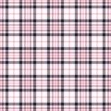 Nahtlose Vektormuster des rosa Schottenstoffs Karierte Plaidbeschaffenheit Geometrischer quadratischer Hintergrund für Gewebe Stockbilder