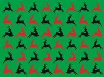 Nahtlose Vektorrotwild Muster, Winter Weihnachten und guten Rutsch ins Neue Jahr-Tag vektor abbildung