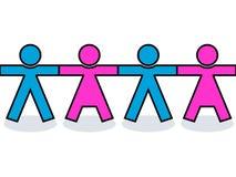 Nahtlose vereinigte Mann- und Frauenikonen lizenzfreie abbildung