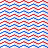 Nahtlose verschachtelte rote und blaue Zickzack-Streifen masern im weißen Hintergrund lizenzfreie abbildung