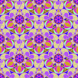 Nahtlose Violet Floral Mandala Pattern lizenzfreie abbildung