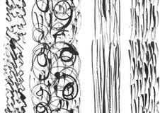 Nahtlose von Hand gezeichnete Tintenformen Stockfotografie