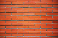 Nahtlose Wand des roten Backsteins Stockbild