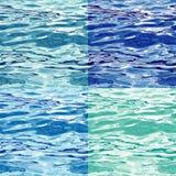 Nahtlose Wasser-Oberflächen-Muster-Varianten Stockbilder