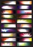 Nahtlose Web-Fahne Stockfotografie