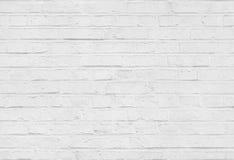 Nahtlose weiße Backsteinmauermusterbeschaffenheit Stockfotos