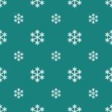 Nahtlose weiße Schneeflocke auf Grün lizenzfreie abbildung