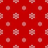 Nahtlose weiße Schneeflocke auf Rot vektor abbildung