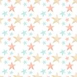 Nahtlose weiche multi Farben-Sterne Lizenzfreie Stockbilder