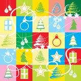 Nahtlose Weihnachtstapete Stockfoto
