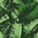 Nahtlose Wiederholungs-Palme-Überdachung Stockbild