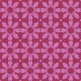 Nahtlose Wiederholungs-symmetrisches Blumenmuster Lizenzfreies Stockbild