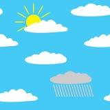 Nahtlose Wolken im Himmel. Stockfotografie