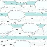 Nahtlose Wolkenmuster-Vektorillustration Stockbilder