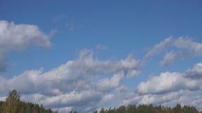 Nahtlose Wolkenzyklen im blauen Himmel stock video