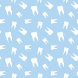 Nahtlose Zahn-zahnmedizinisches Muster Lizenzfreies Stockbild