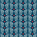 Nahtlose Zusammenfassung des japanischen Musters mit blauem Hintergrund Stockbild