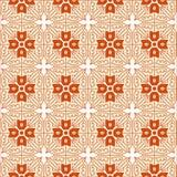 Nahtlose Zusammenfassung des orange Vektors blüht Hintergrund für Dekoration Stockbilder