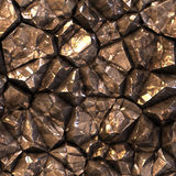 Nahtlose Zusammenfassung erzeugte Steinkristalloberfläche Lizenzfreie Stockfotografie