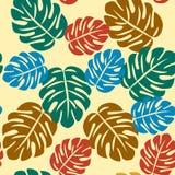 Nahtlose Zusammenfassungen tropisches Muster stock abbildung