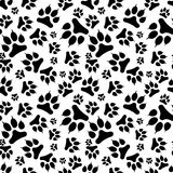 Nahtloser Abdruck des Musters schwarzer Hundemit Greifer Lizenzfreies Stockbild