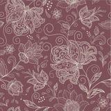 Nahtloser abstrakter Blumenhintergrund Stockfotos