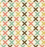 Nahtloser abstrakter geometrischer Hintergrund. Kariertes Muster. Gestickter dekorativer Spitzehintergrund Stockfotografie
