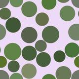 Nahtloser abstrakter geometrischer Hintergrund mit Form des Kreis-, Blasen-, Bereich- oder Ellipsemusters lizenzfreie abbildung