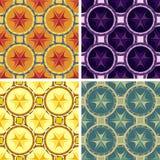 Nahtloser abstrakter geometrischer Kunstmustersatz Stockfoto