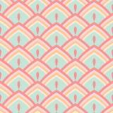 Nahtloser abstrakter geometrischer Musterpastell Stockbilder