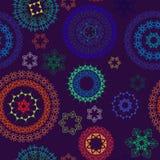 Nahtloser abstrakter Hennastrauchpaisley-Hintergrund Lizenzfreie Stockfotos