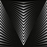 Nahtloser abstrakter Hintergrund in Form von grauen Strahlen und Streifen stock abbildung