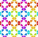 Nahtloser abstrakter Hintergrund gemacht von den Herzen Lizenzfreies Stockbild