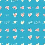 Nahtloser abstrakter Hintergrund mit Liebe für Valentinstag, Feiern oder Jahrestag Digital, Partei, Wiederholung u. Dekoration lizenzfreie abbildung
